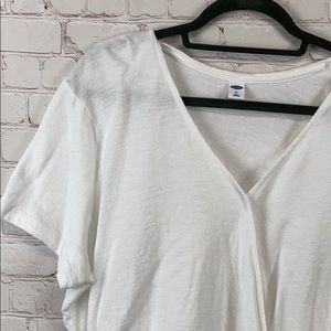 Old Navy white cotton knit pull over top